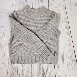 Roots Lamb Wool Mock Neck Chunky Sweater